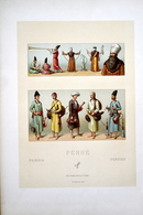 "LITHOGRAPHIE NORDMANN, Imp. FIRMIN DIDOT & Cie - Coiffes, Costumes, Accessoirs ""PERSE"" - Lithografieën"