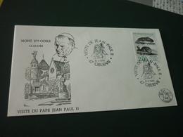 Timbre France Histoire Naturelle Sur Enveloppe Visite Du Pape Jean Paul II Mont Sainte Odile Alsace - France