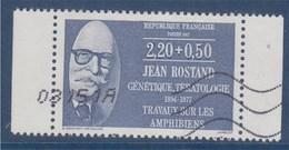 = Jean Rostand, Biologiste, écrivain, Série Personnages Célèbres Médecins Et Biologistes 2f20+50c N°2458 Oblitéré Carnet - France