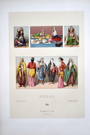 "LITHOGRAPHIE URRABIETTA, Imp. FIRMIN DIDOT & Cie - Coiffes, Costumes, De Femmes ""PERSE"" - Lithografieën"