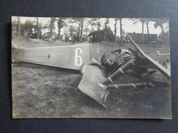 Aviation ( 113 ) Avion Vliegtuig    :  Fotokaart  Carte Photo  Accident D' Avion  à Identifier - Aviadores