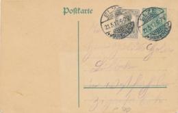 Deutsches Reich - 1917 - 5Pf Postkarte Mi P106 + 2,5 Pf Sent From Elze/Hannover - Postwaardestukken