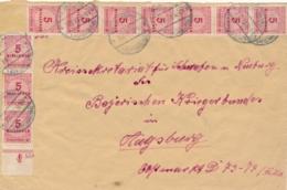 Deutsches Reich - 1923 - 20x 5Mio On Cover From Haldenwang To Augsburg - Deutschland