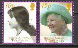 British Antarctic Territory 2002 Queen Elizabeth The Queen Mother Commemoration MNH CV £3.00 - Territoire Antarctique Britannique  (BAT)