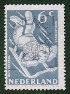 6 + 4 Ct Kinderzegels Child Welfare Kinder Enfant NVPH 510 (Mi 513) 1948 Gestempeld / Used NEDERLAND / NIEDERLANDE - Periodo 1891 – 1948 (Wilhelmina)