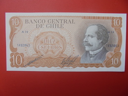 CHILI 10 ESCUDOS 1967-1976 PEU CIRCULER (B.6) - Chili