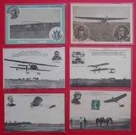 RARE Lot 24 CPA Old Postcards Avions Et Pilotes Aviation Driver And  And Airplanes 1909-1919 éditeurs Divers Dos Scanné - Aviateurs