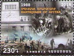 Armenia 2018 Earthquake Of Spitak 1v MNH - Armenia