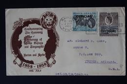 KENYA UGANDA & TANGANYIKA: COMM. COVER BURTON AND SPEKE DISCOVERY LAKE VICTORIA + TANGANYIKA 1958 - Kenya, Uganda & Tanganyika