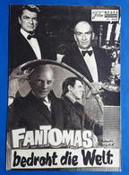 """LOUIS DE FUNES / JEAN MARAIS Im Film """"FANTOMAS Bedroht Die Welt"""" # NFP-Filmprogramm Von 1967 # [19-778] - Zeitschriften"""
