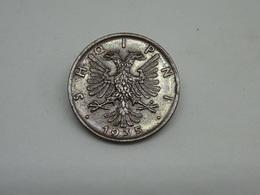 Moneta Albania 1 Qindar 1935 Shqipni - Albania