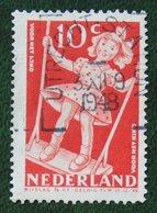 10 + 5 Ct Kinderzegels Child Welfare Kinder Enfant NVPH 511 (Mi 514) 1948 Gestempeld / Used NEDERLAND / NIEDERLANDE - Periodo 1891 – 1948 (Wilhelmina)