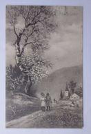 Ostern, Landschaft, Kirche, Männer, Frauen,        1911, Vienne Munk  ♥   - Ostern