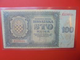 CROATIE 100 KUNA 1941 CIRCULER (B.6) - Croatia