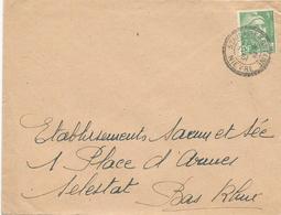 LETTRE 1951 AVEC CACHET PERLE ST HILAIRE-FONTAINE - NIEVRE - - Poststempel (Briefe)