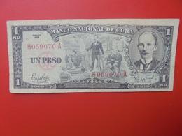 CUBA 1 PESO 1959 CIRCULER (B.6) - Cuba