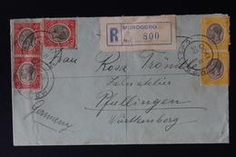 BRITISH MANDATED TERRITORY TANGANYIKA: REGISTERED COVER MOROGORO TO GERMANY 1930 - Kenya, Uganda & Tanganyika