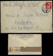 WW II DR Hitler Frankreich Feldpostbrief Mit Zensur: Gebraucht Feldpost Frankfurter Zeitung Paris - Wiesbaden 1943, Be - Briefe U. Dokumente