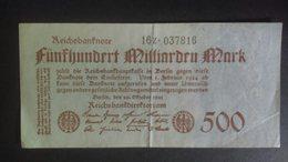 Germany 1923: 500 Milliarden - [ 3] 1918-1933 : Repubblica  Di Weimar