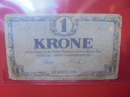 DANEMARK 1 KRONE 1921 CIRCULER (B.6) - Danemark