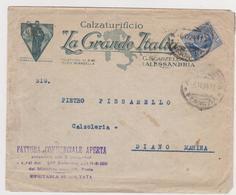Calzaturificio  La Grande Italia  Alessandria Vecchia  Busta   1924 - Italy