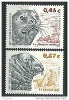 """SPM YT 774 & 775 """" Phoques """" 2002 Neuf** - Unused Stamps"""
