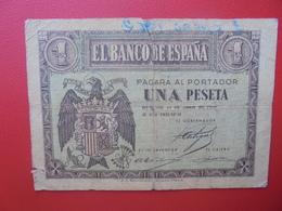 ESPAGNE 1 PESETA 1938 CIRCULER (B.6) - 1-2 Pesetas