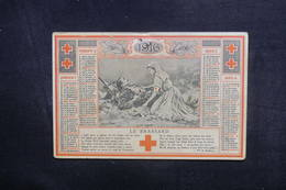CALENDRIERS  - Calendrier De La Croix Rouge En 1916 - L 40303 - Tamaño Pequeño : 1901-20