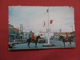 British Columbia  Dawson Creek-- Main Street-- As Is Paper Peel On Back Side    Ref    3568 - British Columbia