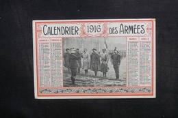 CALENDRIERS - Calendrier En 1916 Des Armées - L 40304 - Tamaño Pequeño : 1901-20