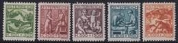 Osterreich      .   Yvert   .   326/330   .    *     .    Ungebraucht    .    /    .   Mint-hinged - 1918-1945 1. Republik