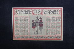 CALENDRIERS - Calendrier En 1918 Des Armées - L 40305 - Tamaño Pequeño : 1901-20