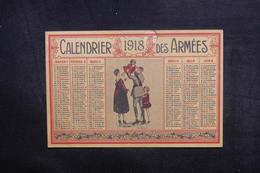 CALENDRIERS - Calendrier En 1918 Des Armées - L 40306 - Tamaño Pequeño : 1901-20