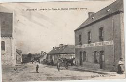 Loire  Atlantique :  LOUISFERT : Place De L   église  Et  Route De  D '  Erbray ( Café-boucherie - épicerie ) - France