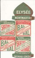 PARIS -  Elysée Montmartre -  Bal,  Patinage - Programmes