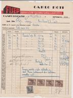 Vecchia Fattura Fisep Fabbrica Sandali E Pantofole 1943 Campi Bisenzio - Italy