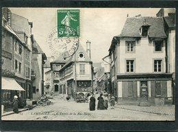 CPA - LAMBALLE - Entrée De La Rue Basse, Animé - Lamballe