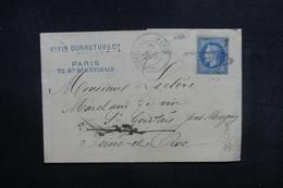 FRANCE - Lettre Commerciale De Paris Pour St Gervais En 1869, Affranchissement Napoléon , Oblitération étoile - L 40308 - 1849-1876: Période Classique
