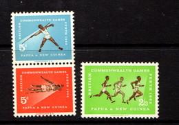 PAPUA  NEW  GUINEA    1962    Empire  Games  Perth    Set  Of  3    MH - Papua New Guinea