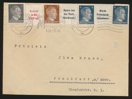 Deutsches Reich Brief Zusammendruck Hitler Berlin Cahrlottenburg Frankfurt Oder - Zusammendrucke