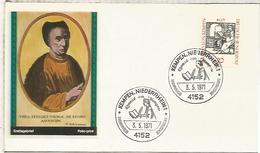 ALEMANIA FDC 1971 KEMPEN NIEDERHEIM JONAS VON KEMPEN RELIGION - Cristianismo