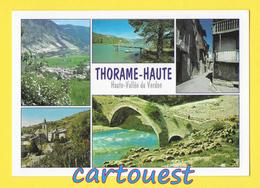 CPSM 04 THORAME HAUTE  Multivues - Le Pont Romain - Le Village - - France