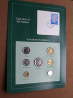 KINGDOM OF MOROCCO ( From The Serie Coin Sets Of All Nations ) Card 20,5 X 29,5 Cm. ) + Stamp '83 ! - Maroc
