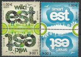 EE 2012-728-9 EUROPA CEPT, ESTONIA, 2 X 2v, MNH - 2012