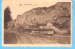 Profondeville-1935-la Meuse-Bateau Pour Touristes-Touriste (Darros ??)-Le Tunnel Du Chemin De Fer - Profondeville