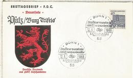 ALEMANIA FDC 1965 ARQUITECTURA TRIEFELS - Monumentos