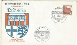 ALEMANIA FDC 1965 ARQUITECTURA LORCH - Monumentos
