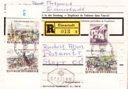 1964  FDC, Österreich, Wien Lädt Zur WIPA 1965, Sonderstempel Eisenstadt, REC, Echt Gelaufen - 1945-.... 2. Republik