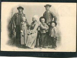 CPA - Karten Bost - Famille De PLOUGASTEL - DAOULAS - Costumes De Fête  (dos Non Divisé) - Plougastel-Daoulas