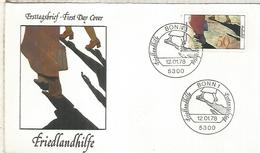 ALEMANIA FDC 1978 FRIEDLANDHILFE  ONG - ACF - Aktion Gegen Den Hunger